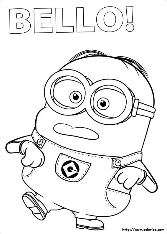 Coloriage les minions gratuit - dessin a imprimer #12