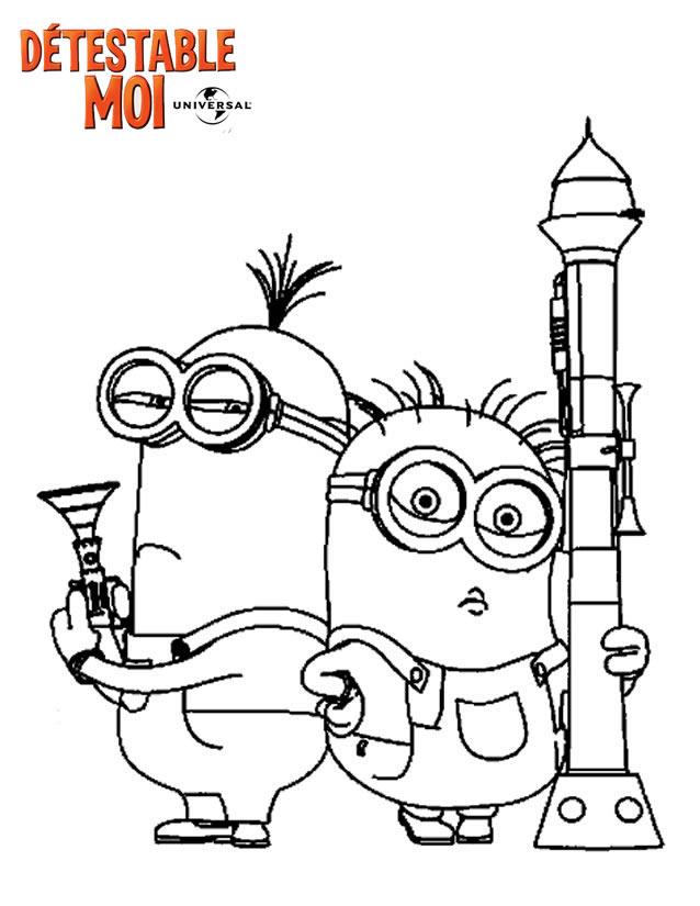 Coloriage les minions gratuit - dessin a imprimer #126