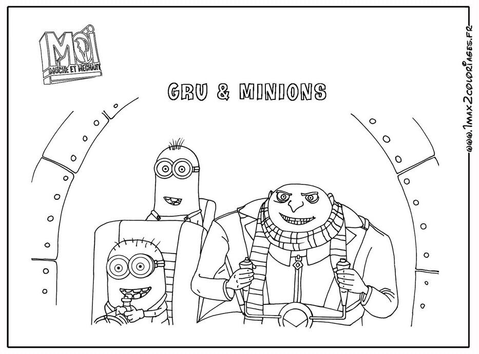 Coloriage les minions gratuit - dessin a imprimer #140