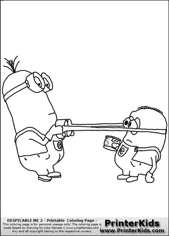 Coloriage les minions gratuit - dessin a imprimer #143