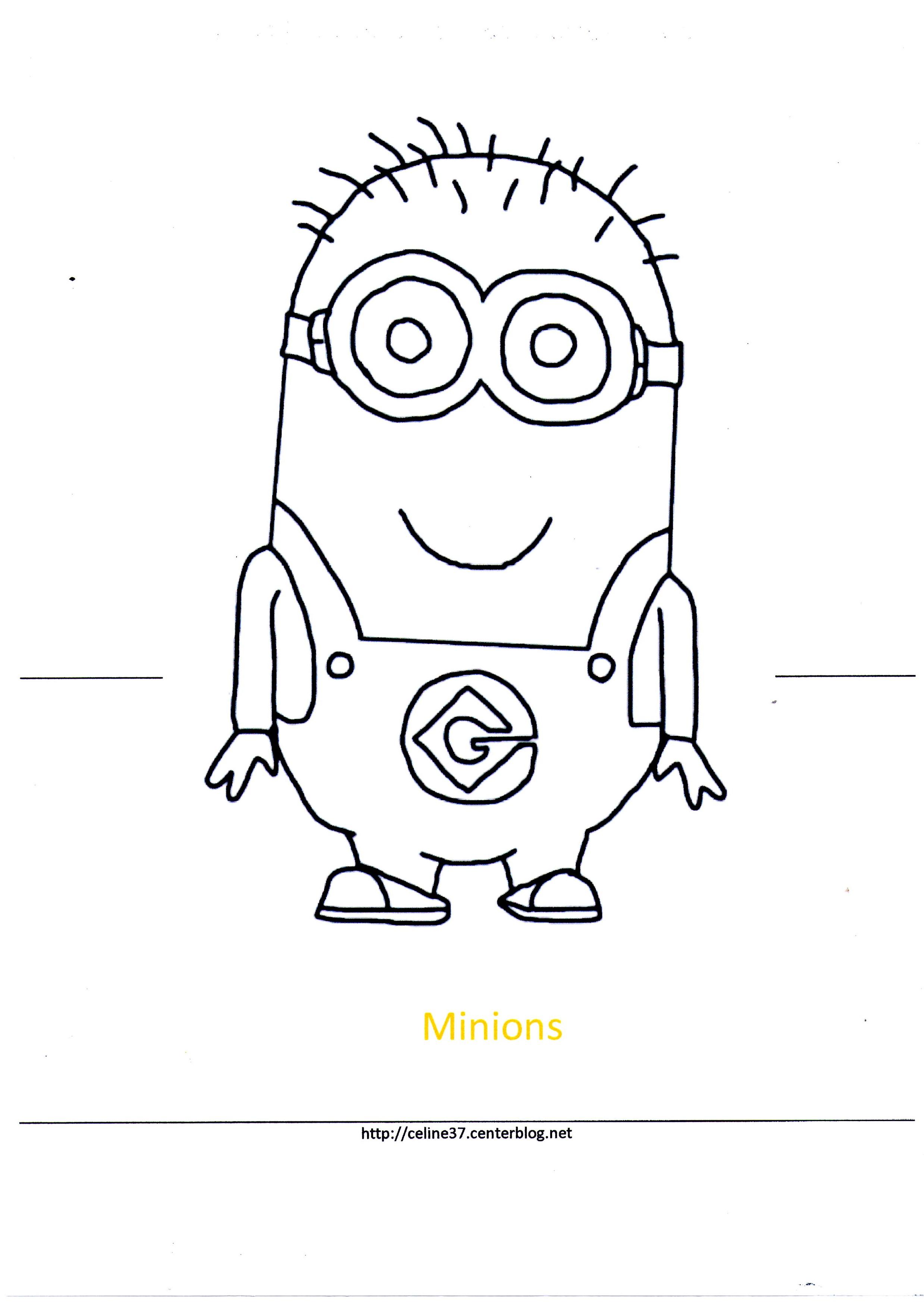 Coloriage les minions gratuit - dessin a imprimer #16