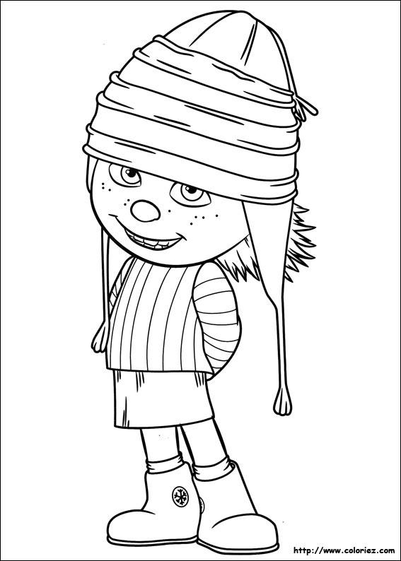 Coloriage les minions gratuit - dessin a imprimer #18