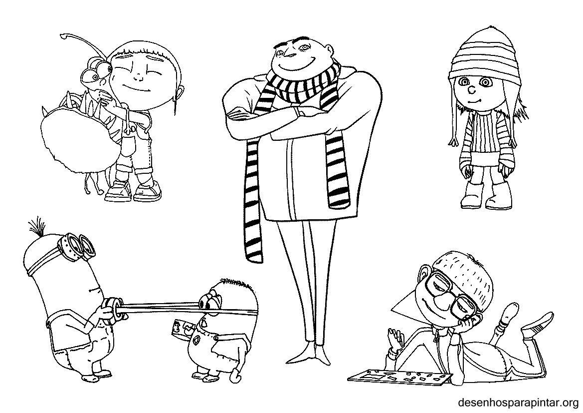 Coloriage les minions gratuit - dessin a imprimer #183