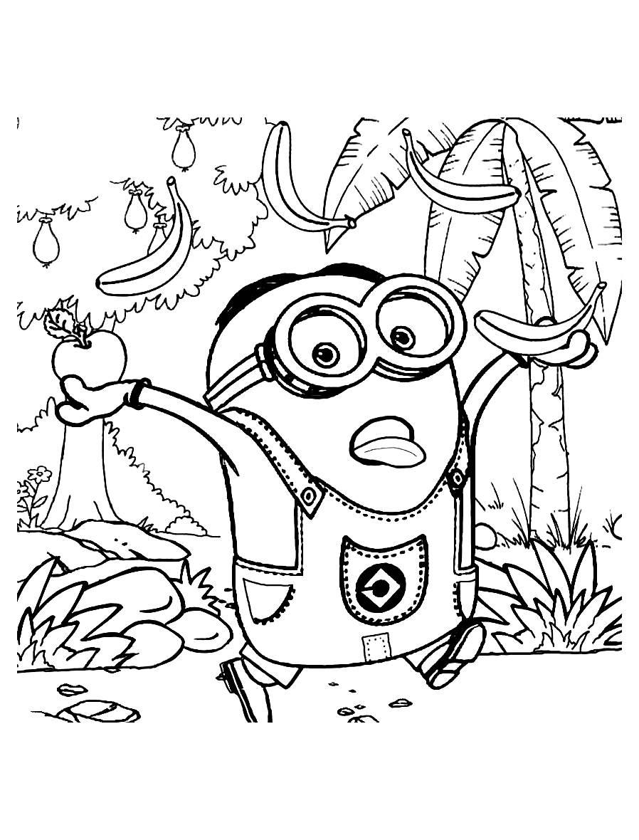 Coloriage les minions gratuit - dessin a imprimer #19