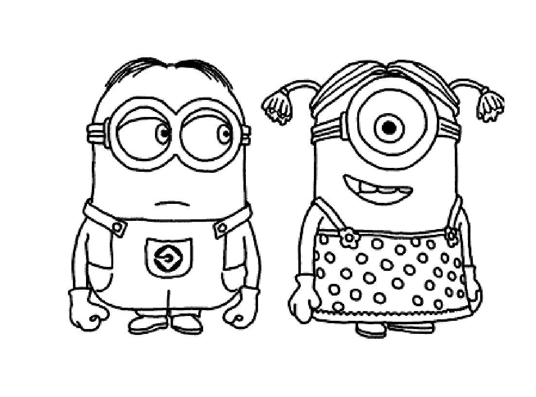 100 dessins de coloriage les minions imprimer sur - Coloriage a imprimer pour fille ...