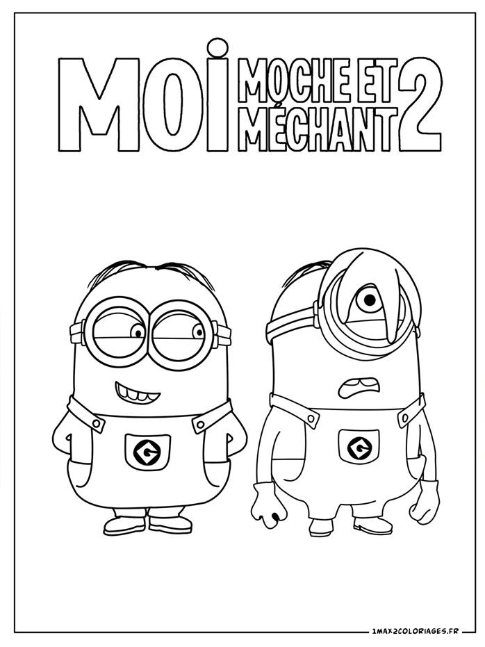 Coloriage les minions gratuit - dessin a imprimer #2