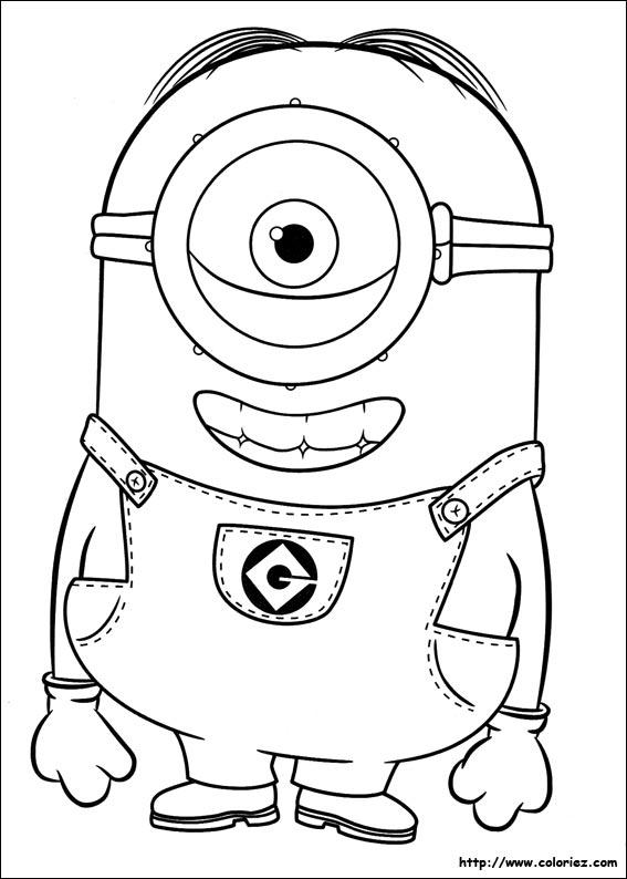 Coloriage les minions gratuit - dessin a imprimer #20