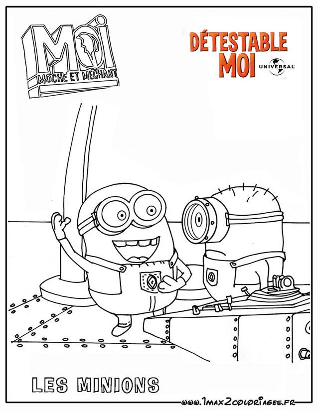 Coloriage les minions gratuit - dessin a imprimer #21