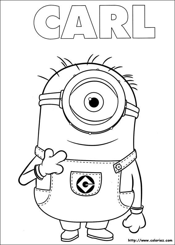 Coloriage les minions gratuit - dessin a imprimer #22