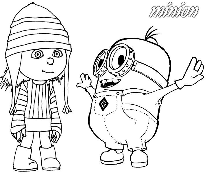 Coloriage les minions gratuit - dessin a imprimer #243