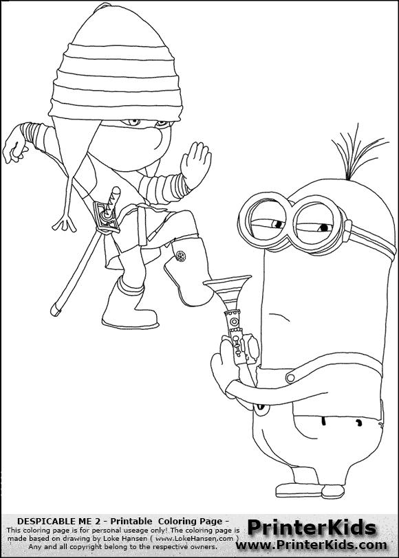 Coloriage les minions gratuit - dessin a imprimer #245