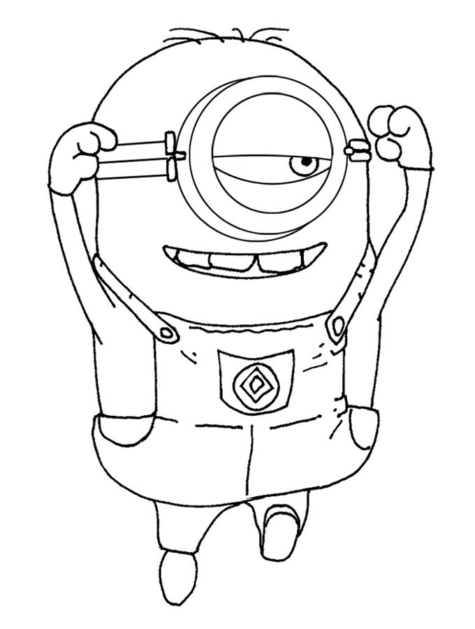 Coloriage les minions gratuit - dessin a imprimer #27