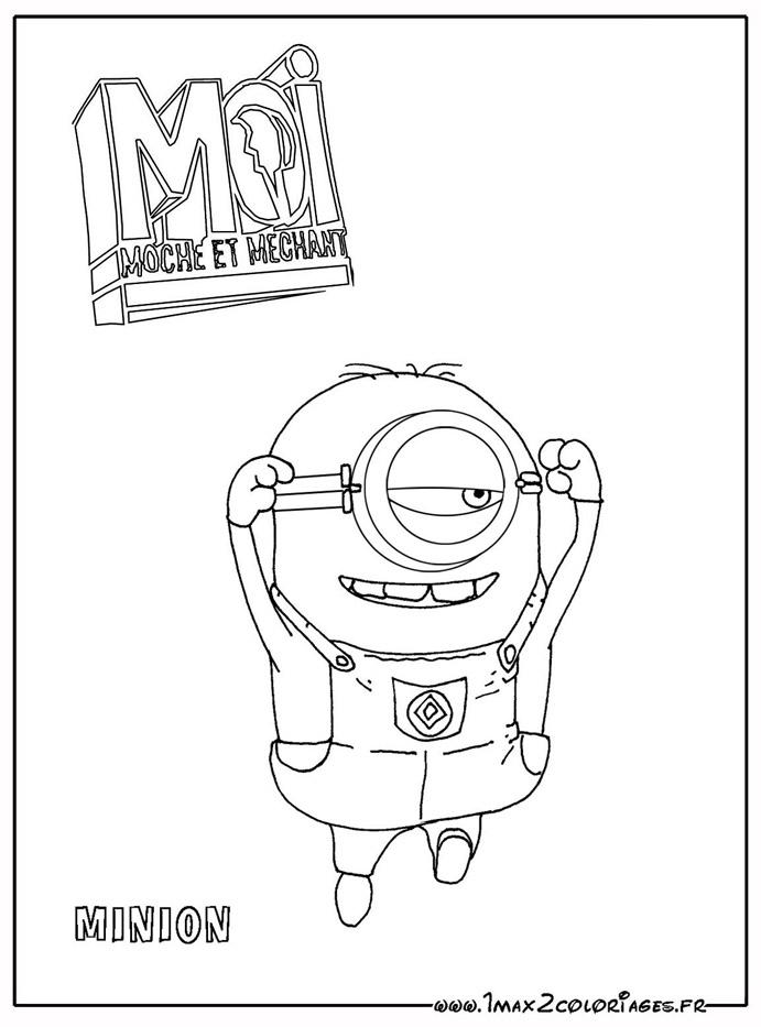 Coloriage les minions gratuit - dessin a imprimer #275