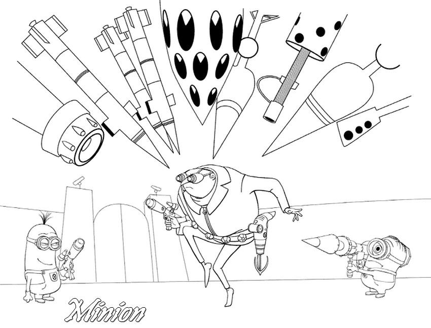 Coloriage les minions gratuit - dessin a imprimer #282
