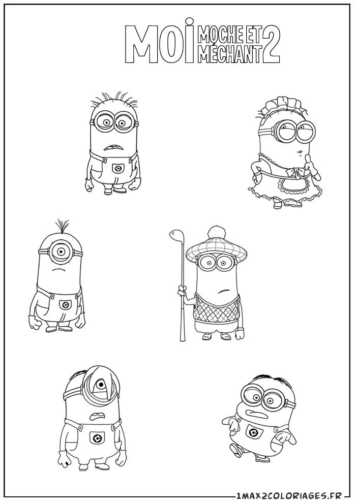 Coloriage les minions gratuit - dessin a imprimer #3