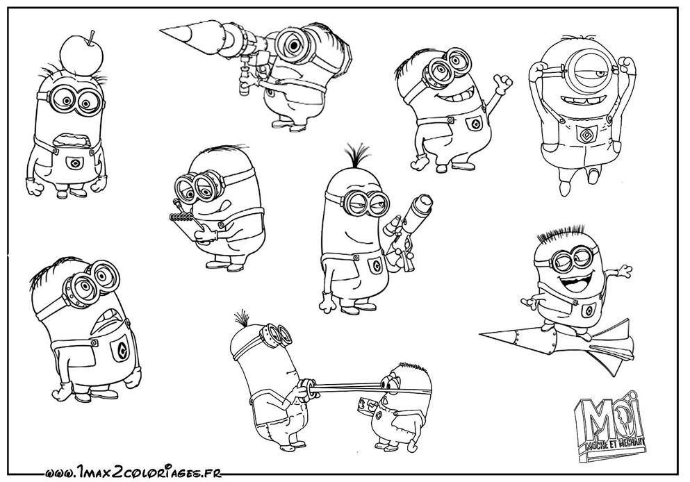 Coloriage les minions gratuit - dessin a imprimer #31