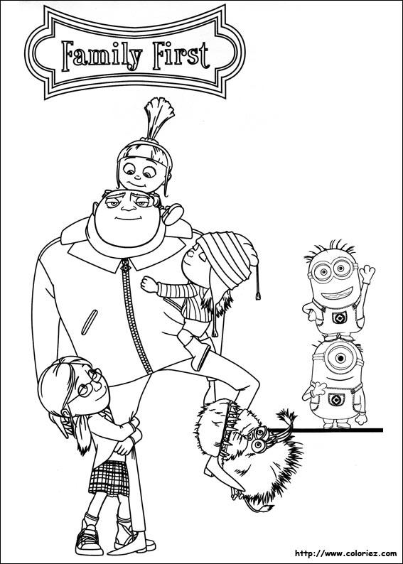 Coloriage les minions gratuit - dessin a imprimer #39