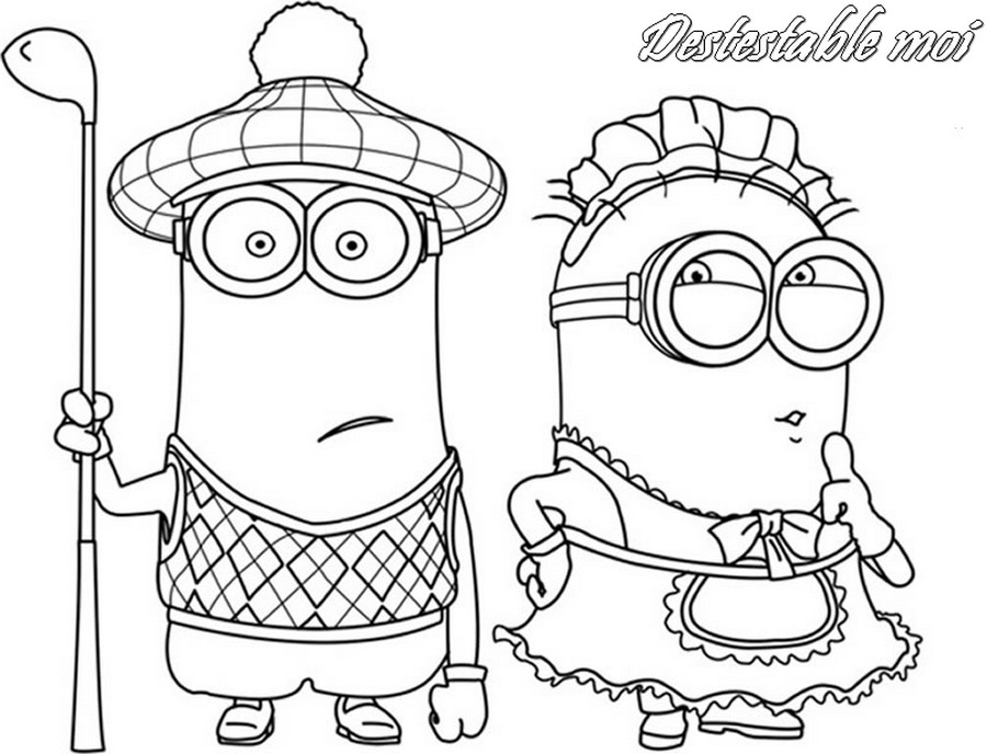 HD wallpapers coloriage minions a imprimer