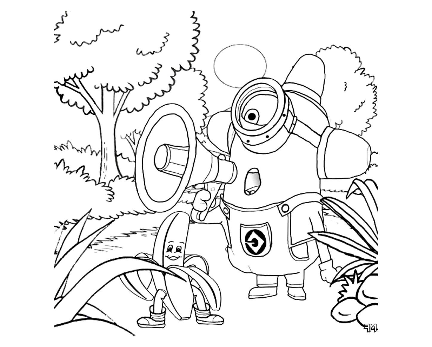 Coloriage les minions gratuit - dessin a imprimer #44