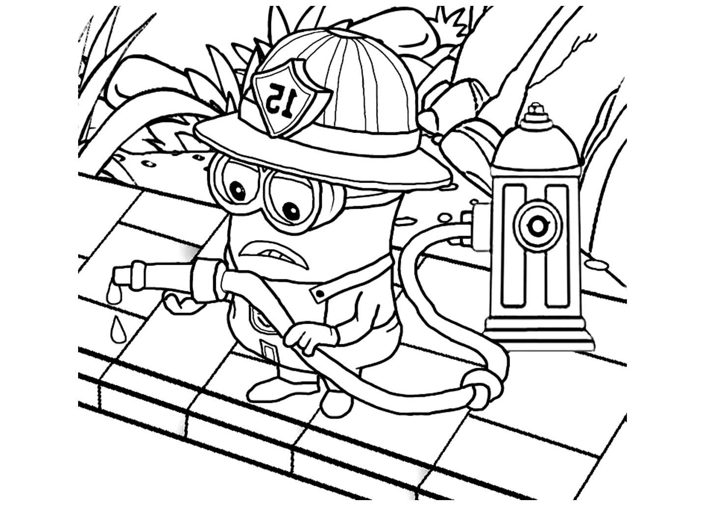 Coloriage les minions gratuit dessin a imprimer 50