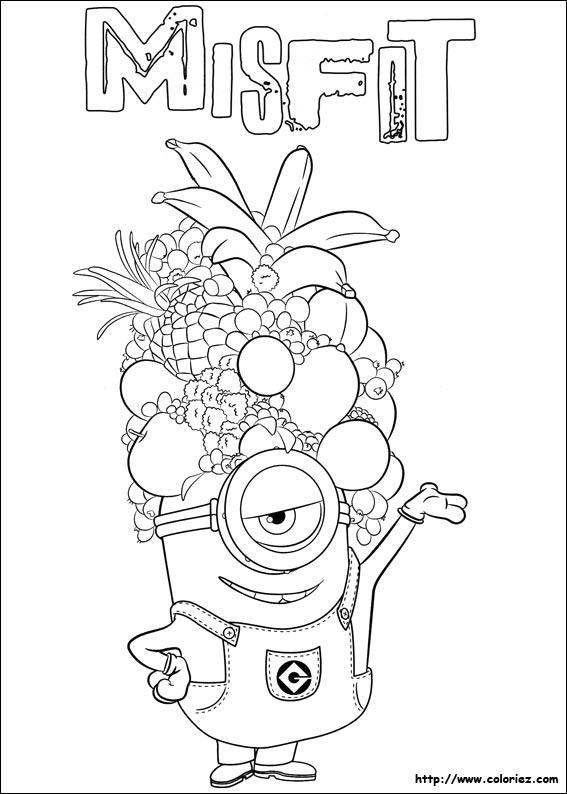 Coloriage les minions gratuit - dessin a imprimer #59