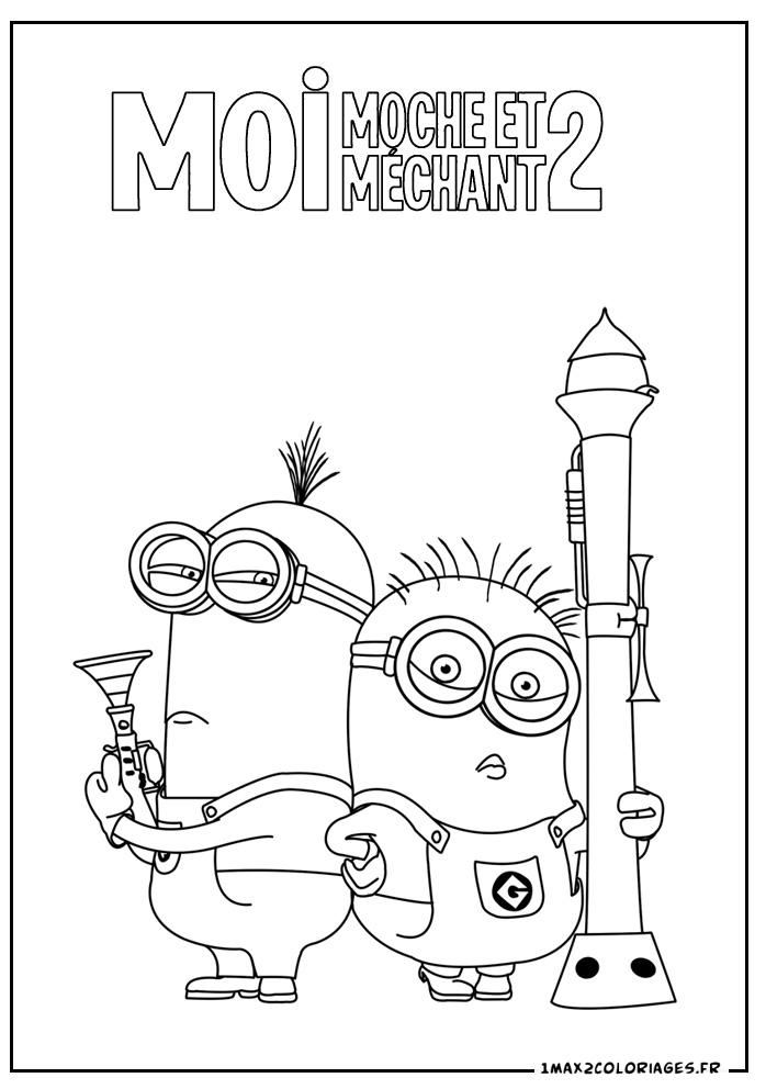 Coloriage les minions gratuit - dessin a imprimer #85