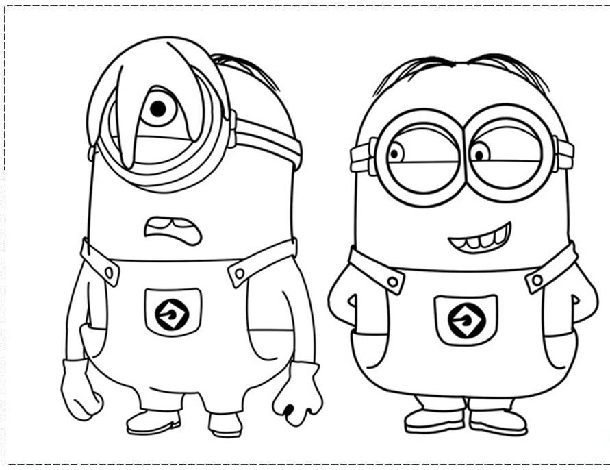 Coloriage les minions gratuit - dessin a imprimer #97