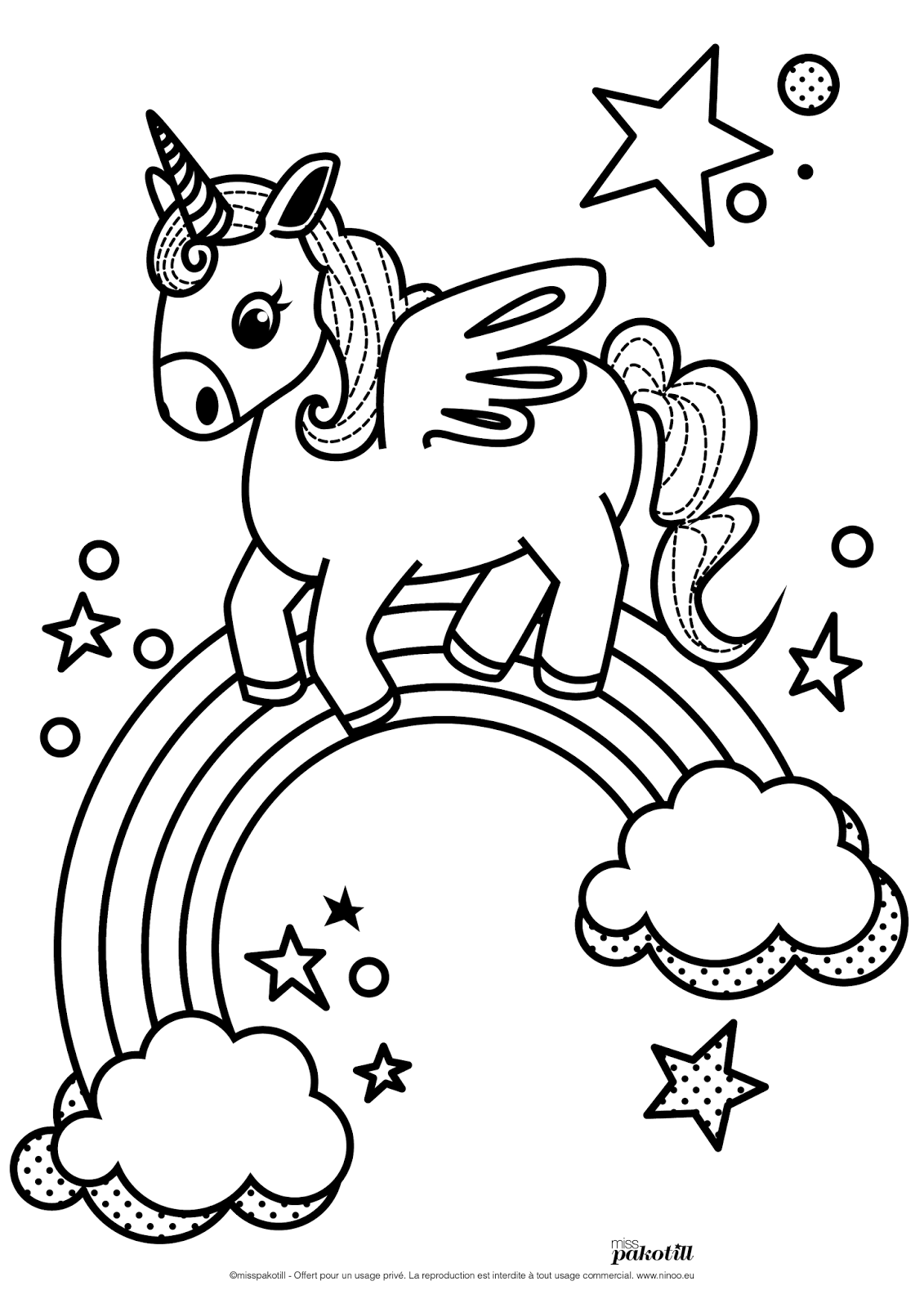 80 dessins de coloriage licorne imprimer sur laguerche - Image de licorne ...