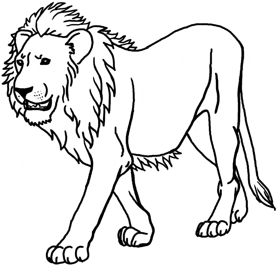 108 dessins de coloriage lion imprimer sur for Make a coloring page out of a photo
