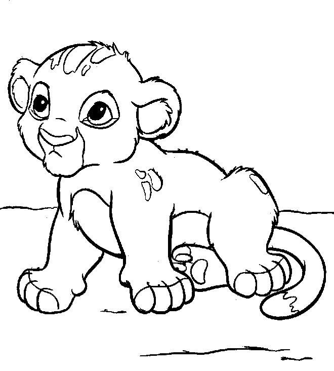 dessin de lion imprimer et colorier