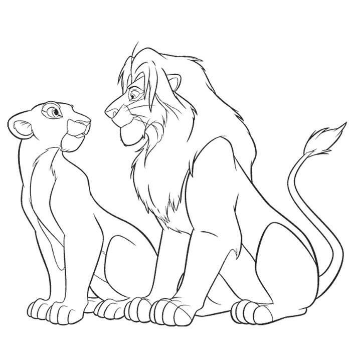 coloriage lion a imprimer