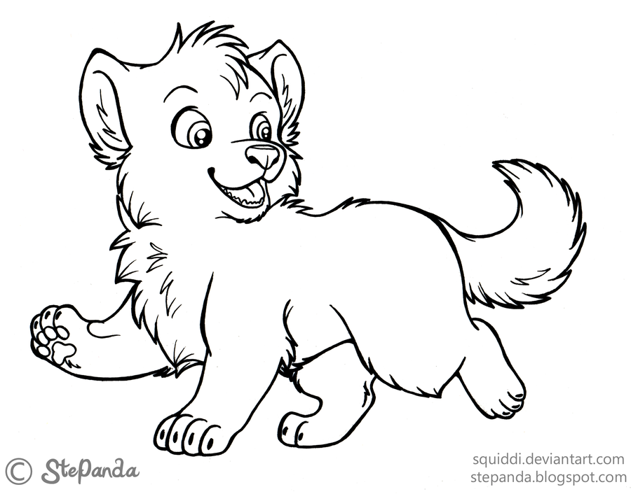 baby winged wolf coloring pages - photo#32