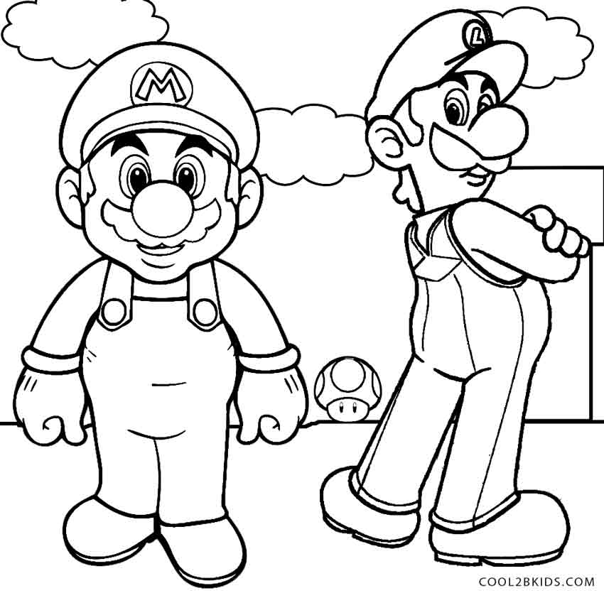 47 dessins de coloriage luigi imprimer sur - Dessin de mario et luigi ...