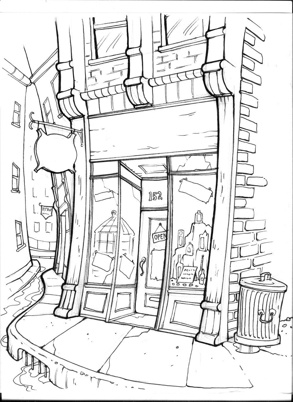 23 dessins de coloriage magasin imprimer sur laguerche - Fleuriste dessin ...