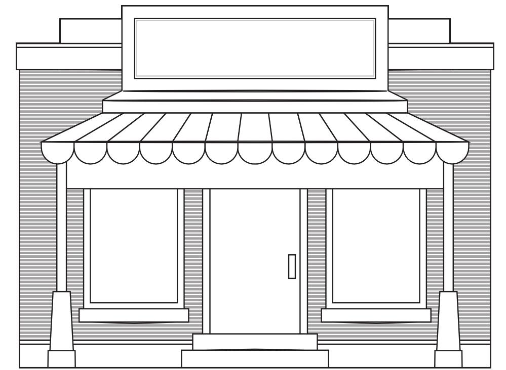 Front Elevation Of Garment Showroom : Dessins de coloriage magasin à imprimer sur laguerche