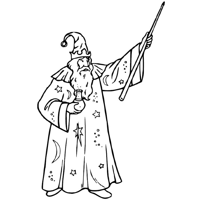 37 dessins de coloriage magicien imprimer sur laguerche - Magicien dessin ...
