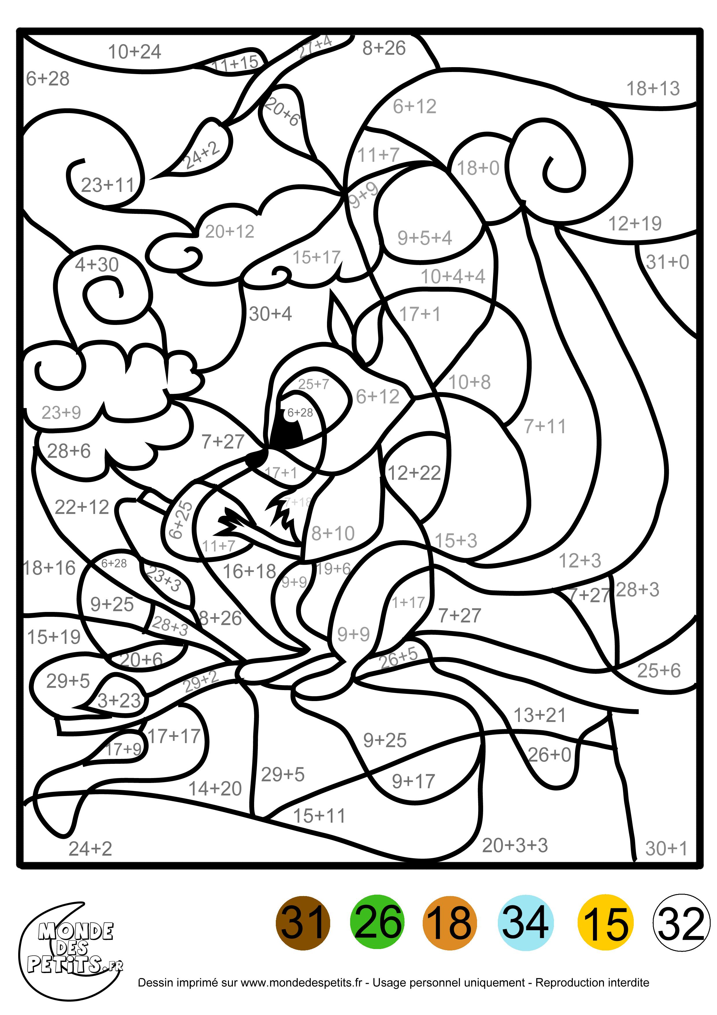 66 dessins de coloriage magique à imprimer sur LaGuerche ...
