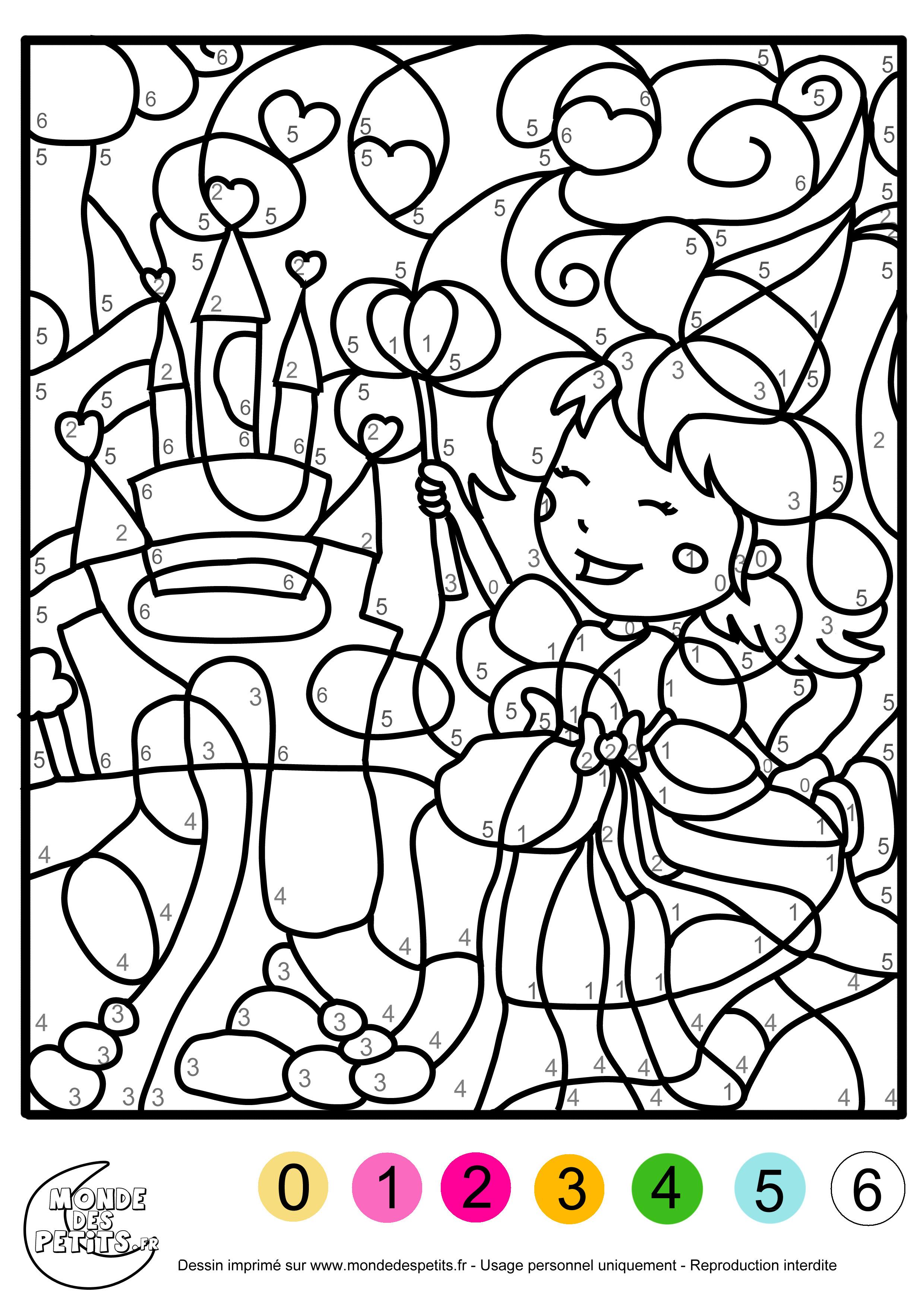 Image Coloriage magique gratuit