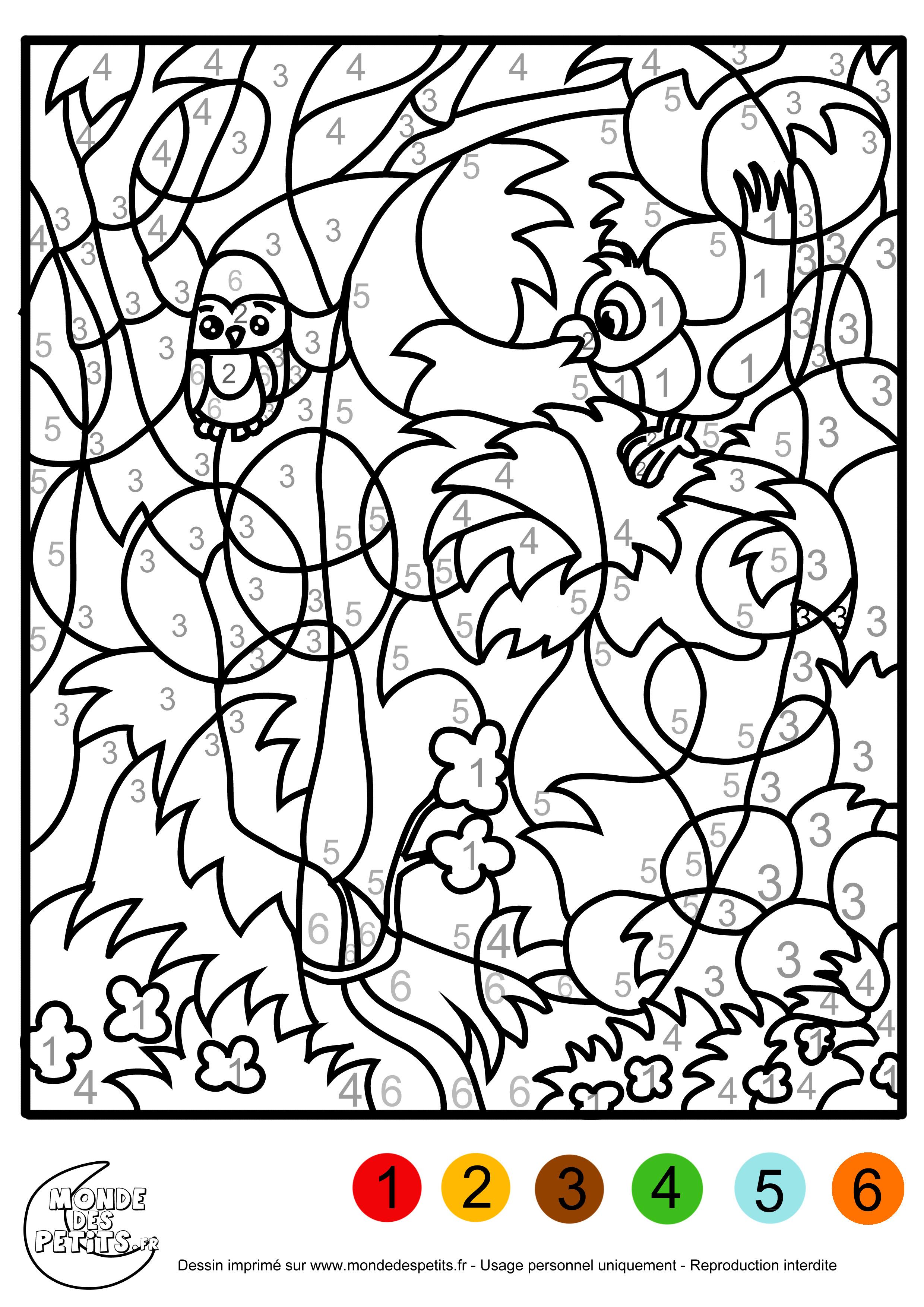 66 dessins de coloriage magique imprimer sur laguerche - Coloriage colorier ...