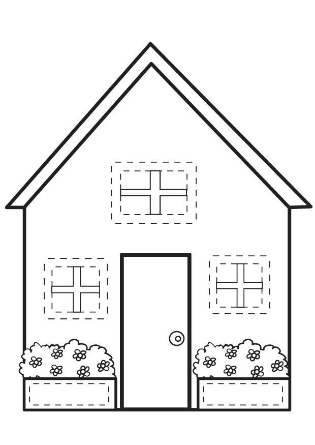 87 dessins de coloriage maison imprimer sur page 4. Black Bedroom Furniture Sets. Home Design Ideas