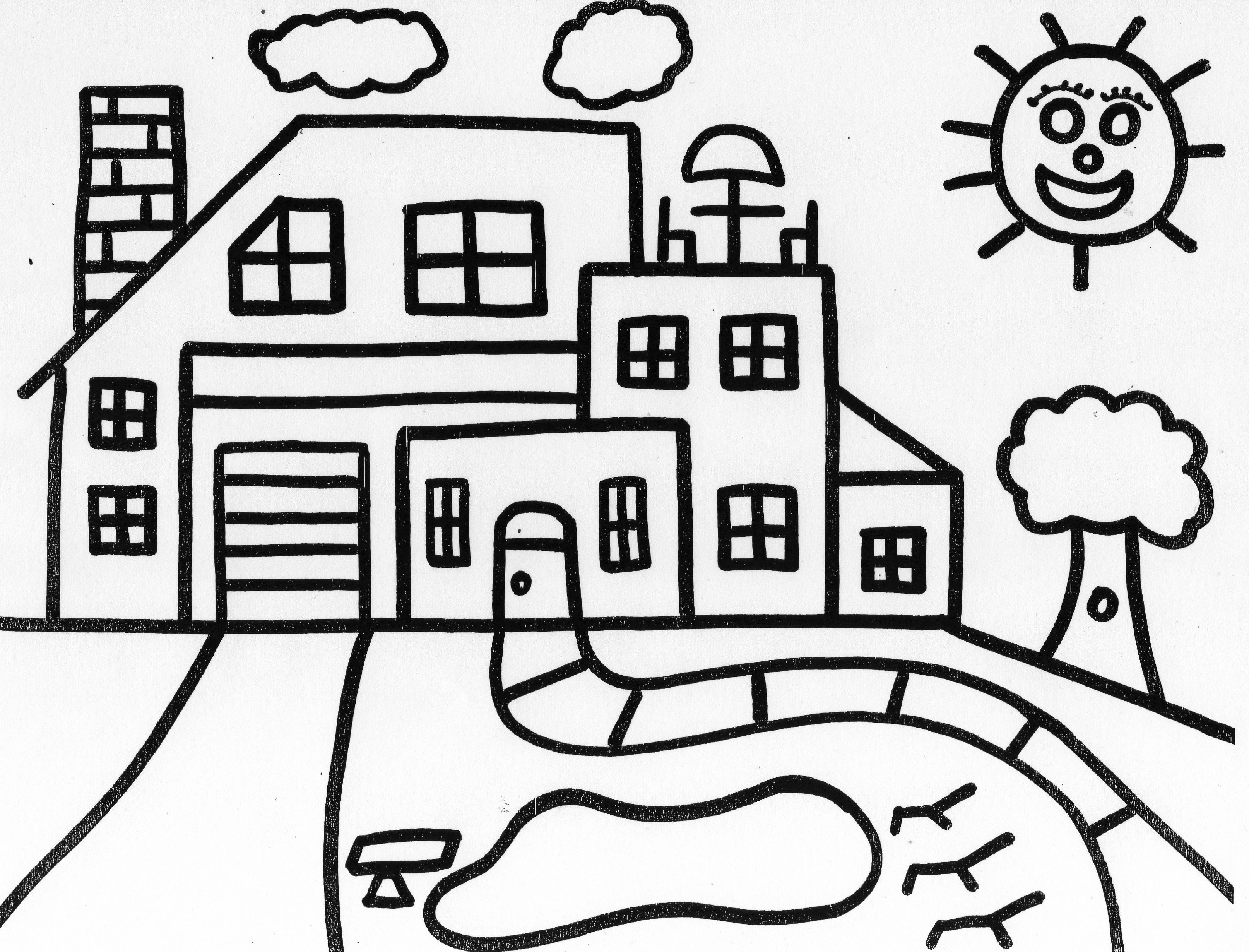 my home coloring pages - photo#18
