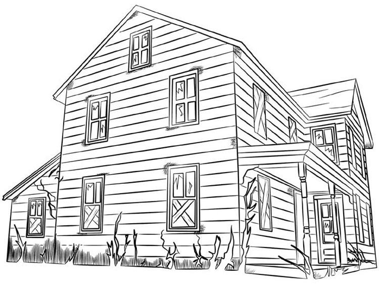 87 dessins de coloriage maison imprimer sur laguerche for Dessin maison