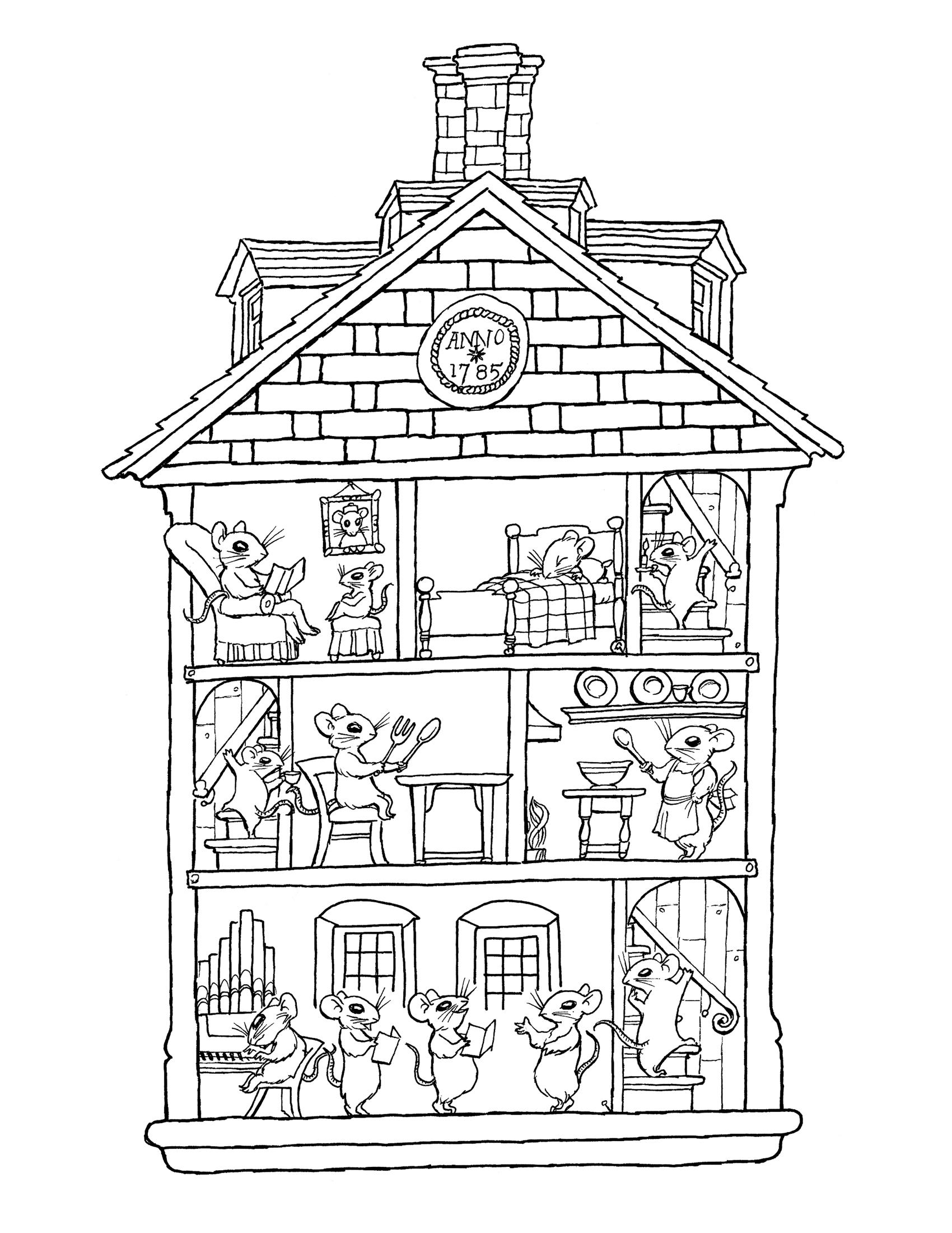 87 dessins de coloriage maison imprimer sur page 8. Black Bedroom Furniture Sets. Home Design Ideas