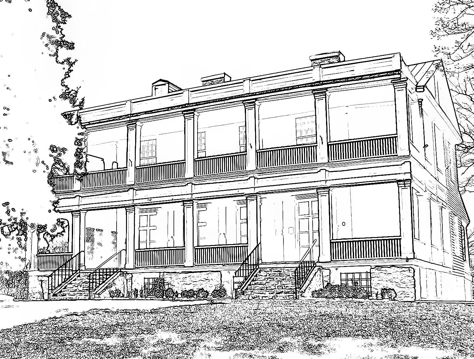 87 dessins de coloriage maison imprimer sur laguerche for Dessin architecture maison