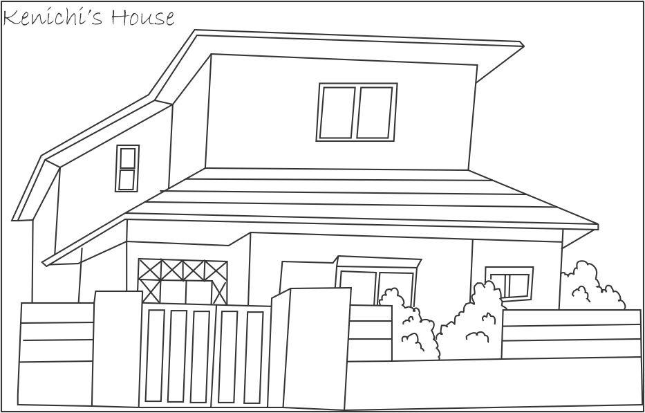 Coloriage Maison Awesome Image Coloriage Maison Gratuit With