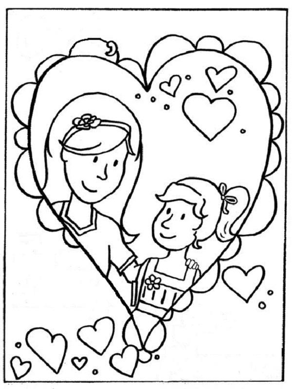 dessin 15223 coloriage maman - Coloriage Maman