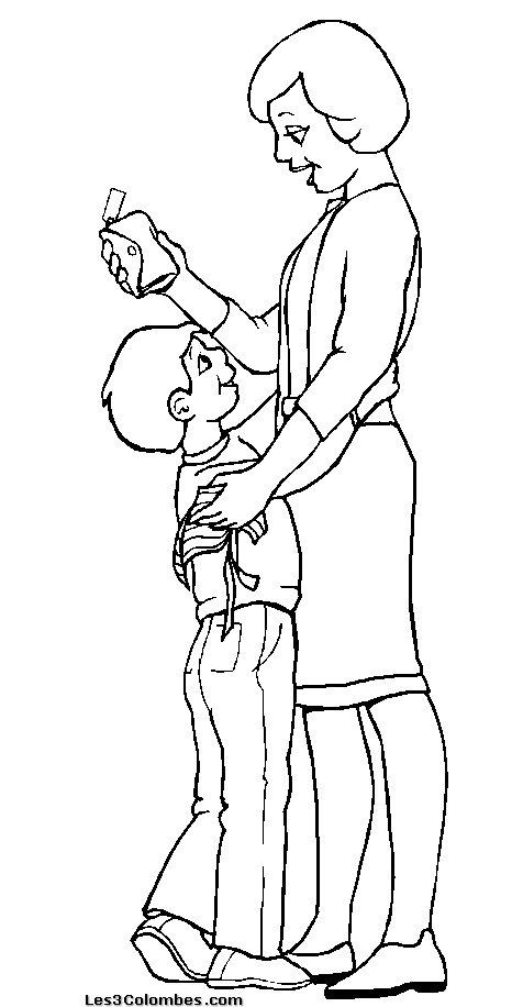 dessin 15236 coloriage maman a imprimer et colorier - Coloriage Maman