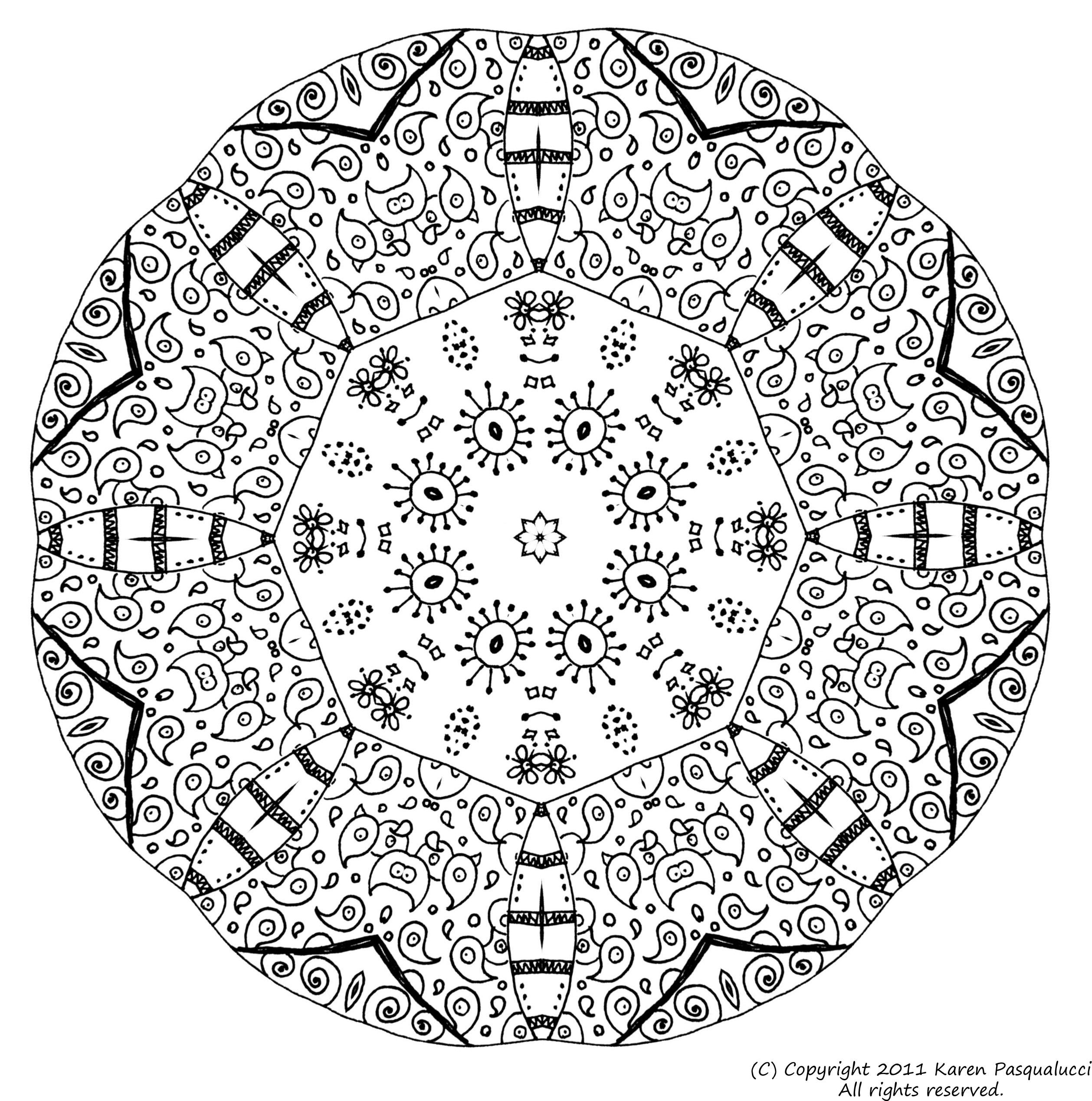 84 dessins de coloriage mandala imprimer sur laguerche - Coloriage en ligne adulte ...