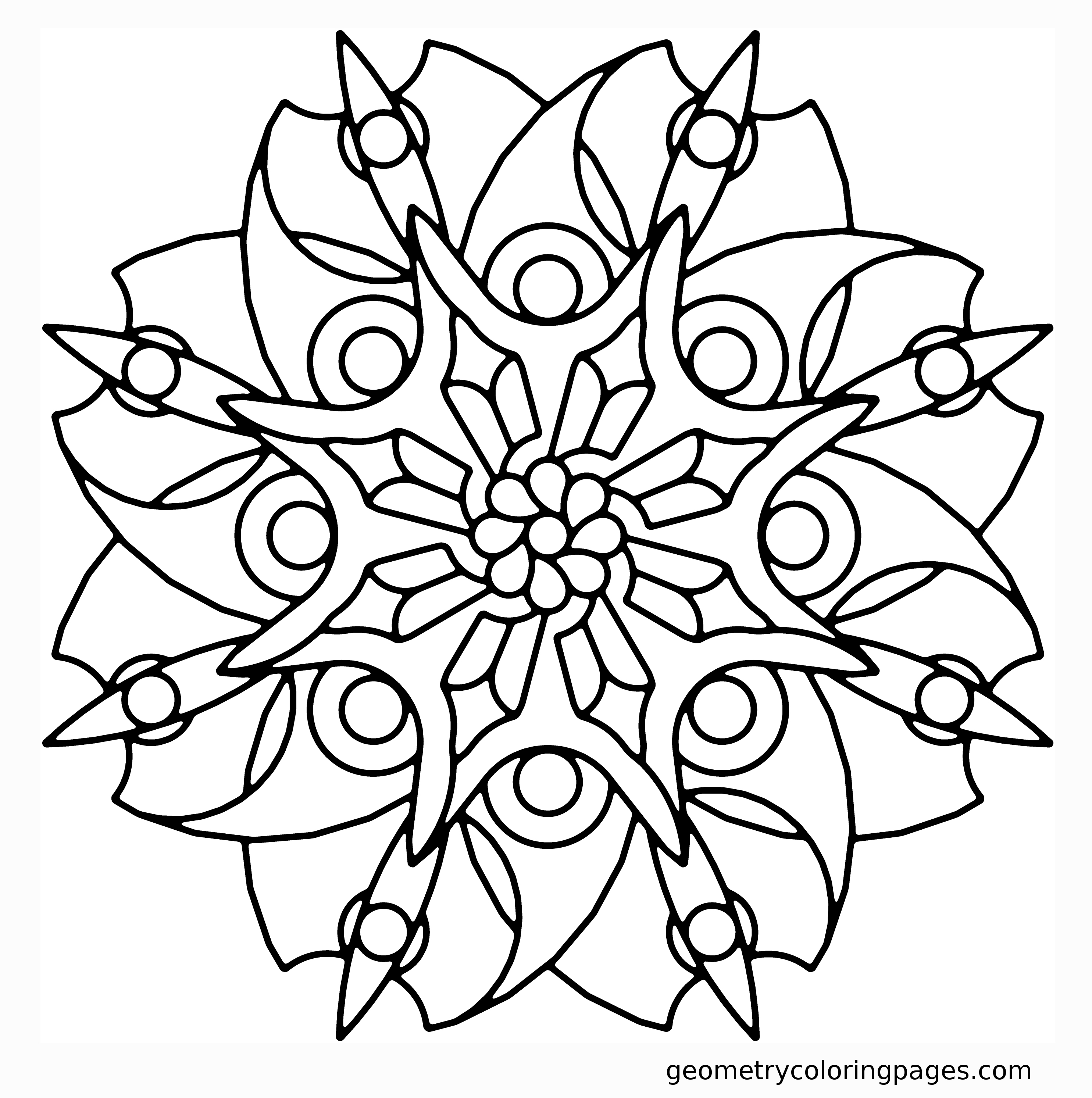 geometric coloring pages advanced nature - photo#28