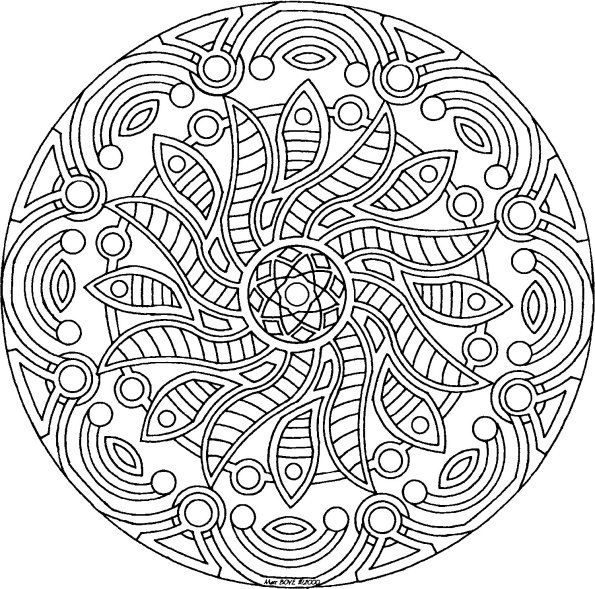 image 21381 coloriage mandala gratuit - Dessin De Mandala